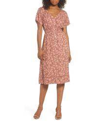 Knot Sisters - Farrell Floral Smock Waist Dress - Lyst