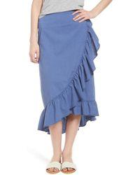 Hinge - Ruffle Midi Skirt - Lyst