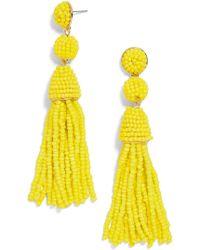 BaubleBar - Granita Beaded Tassel Earrings - Lyst