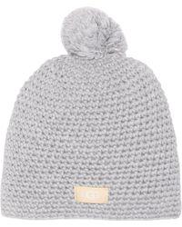 UGG - Yarn Pompom Knit Beanie - Lyst