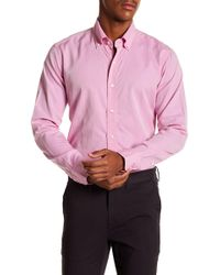 Peter Millar - The Perfect Pinpoint Tailored Fit Long Sleeve Shirt - Lyst