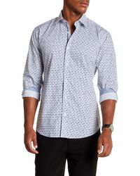 Bugatchi - Patterned Long Sleeve Shaped Fit Shirt - Lyst