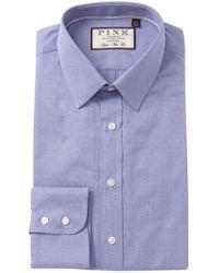 Thomas Pink - Eno Textured Solid Super Slim Fit Dress Shirt - Lyst