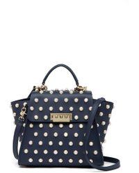 Zac Zac Posen | Eartha Iconic Imitation Pearl Embellished Leather Convertible Backpack | Lyst