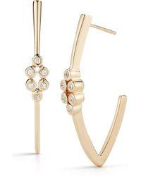 Dana Rebecca - 14k Yellow Gold Lulu Jack Diamond Hoop Earrings - 0.11 Ctw - Lyst