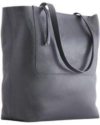 Kiko Leather - Double Zip Leather Tote Bag - Lyst