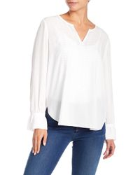 NYDJ - Embroidered Blouse - Lyst