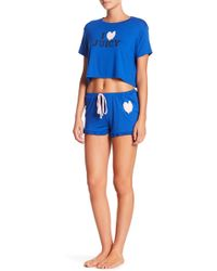 Juicy Couture - Two-piece Ruffled Shorty Pajama Set - Lyst