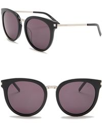 Saint Laurent - 55mm Rounded Cat Eye Sunglasses - Lyst