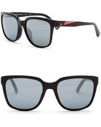 Emporio Armani - 55mm Oversized Acetate Frame Sunglasses - Lyst