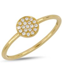 Bony Levy - 18k Yellow Gold Diamond Disc Ring - Lyst