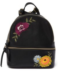 T-Shirt & Jeans - Embroidered Floral Mini Backpack - Lyst