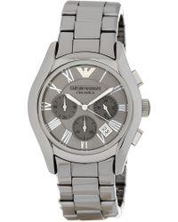 Emporio Armani - Men's Chronograph Titanium Ceramic Watch, 43mm - Lyst