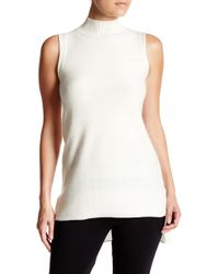 In Cashmere - Novelty Stitch High Mock Cashmere Tunic - Lyst
