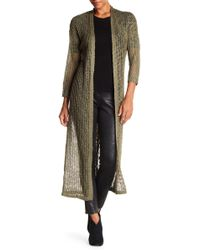 Angie - Knit Print Duster Cardigan - Lyst