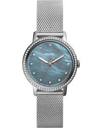 Fossil - Women's Neely Small Round Stainless Steel Bracelet Watch, 34mm - Lyst