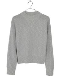 Madewell - Relaxed Mock Neck Jumper - Lyst
