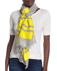 Calvin Klein - Colorblock Scarf Frayed Scarf - Lyst