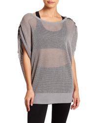BLANC NOIR - Sea Breeze Poncho Sleeve Sweater - Lyst
