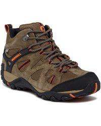 Merrell - Yokota Ascender Waterproof Suede Hiking Sneaker - Lyst