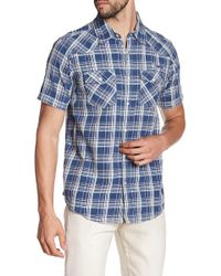 Xray Jeans - Plaid Short Sleeve Slim Fit Shirt - Lyst