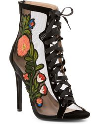 In Touch Footwear | Rhode Patch Stiletto Bootie | Lyst