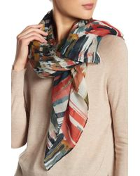 Lafayette 148 New York - Plaza Texture Wool Blend Scarf - Lyst