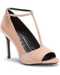 Calvin Klein - Nicolette Suede & Patent Leather Pump - Lyst