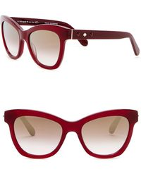 Kate Spade - Krissy 52mm Crystal Accented Cat Eye Sunglasses - Lyst