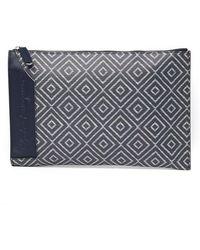 Ferragamo - Leather Flat Wrist Zip Pouch - Lyst