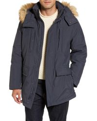 Marc New York - Down Jacket With Faux Fur Trim - Lyst