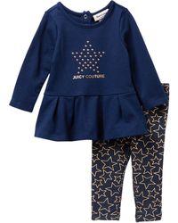 Juicy Couture - Star Tunic & Knit Denim Leggings Set (baby Girls 12-24m) - Lyst