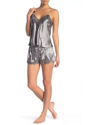 Curvy Couture - Lace & Satin Pajama 2-piece Set - Lyst