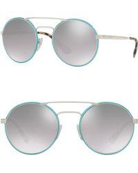 Prada - 54mm Round Catwalk Sunglasses - Lyst