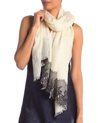 La Fiorentina - Wool Silk Blend Lace Scarf - Lyst