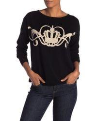 Joan Vass - Crown Wool Blend Sweater - Lyst