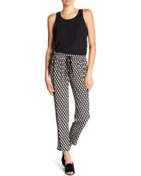 B Collection By Bobeau - Woven Print Pull-on Trousers - Lyst