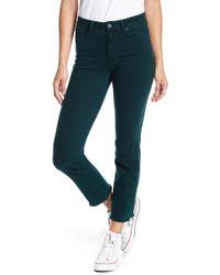 PAIGE - Jacqueline Raw Hem Skinny Jeans - Lyst