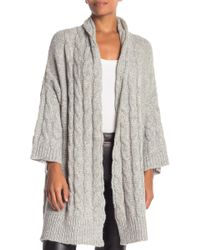 Jarbo - Wool Blend Cable Knit Cardigan - Lyst