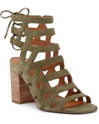 Sarto | Connie Block Heel Cage Sandal | Lyst