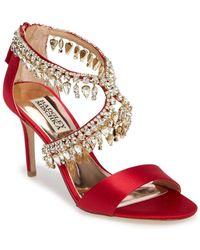 Badgley Mischka - Grammy Crystal Embellished Sandal - Lyst