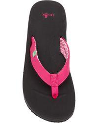 Sanuk - Yoga Mat Wander Flip Flop - Lyst