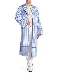 English Factory - Stripe Long Sleeve Jacket - Lyst