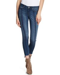 William Rast | Step Hem Ankle Skinny Jeans | Lyst