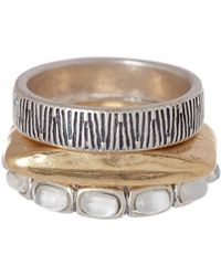 Lucky Brand - Two-tone Stacked Rings - Size 7 - Lyst
