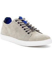 Kenneth Cole Reaction - Perforated Leather Trainer - Lyst