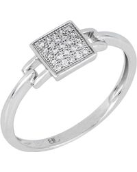 Bony Levy - 18k White Gold Diamond Square Ring - 0.08 Ctw - Size 6.5 - Lyst