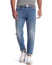 Current/Elliott - Selvedge Taper Fit Jeans - Lyst
