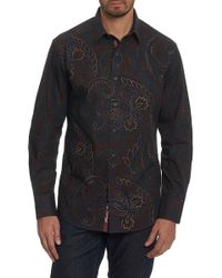 Robert Graham - Carlyle Embroidered Long Sleeve Classic Fit Shirt - Lyst
