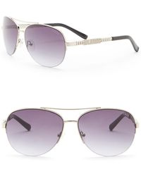 Guess - 62mm Aviator Sunglasses - Lyst